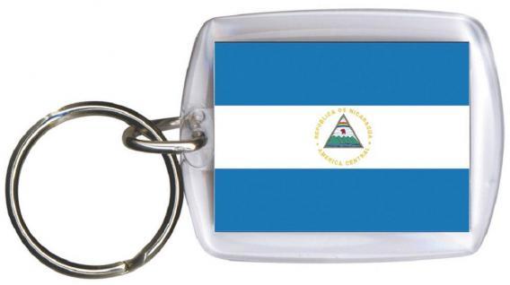 Schlüsselanhänger Anhänger - NICARAGUA - Gr. ca. 4x5cm - 81118 - Keyholder WM Länder
