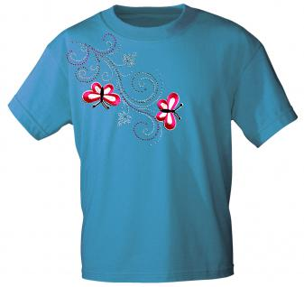 (12853) T- Shirt mit Glitzersteinen Gr. S - XXL in 16 Farben XXL / türkis