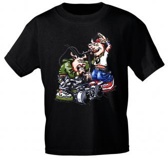 T-Shirt unisex mit Print - Hip Hop Pigs - von ROCK YOU MUSIC SHIRTS - 10416 schwarz - Gr. XXL