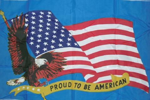 Deko-Fahne - USA Adler Proud - Gr. ca. 150 x 90cm - 24324