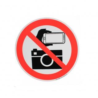 Schild Verbotszeichen nach ISO 7010 - Fotografieren verboten - 320507 Gr. ca. 20 x 20cm