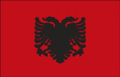 Autoländerfahne - Albanien - Gr. ca. 40x30cm - 78008 - Länderfahne mit Klemmstab, Dekofahne