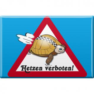 Kühlschrankmagnet - Hetzen verboten - Robbe - Gr. ca. 8 x 5, 5 cm - 38858 - Magnet Küchenmagnet