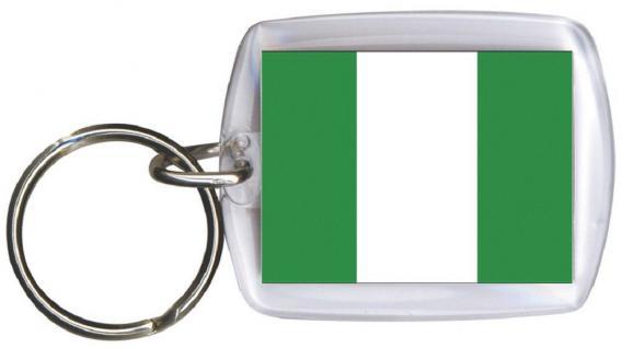 Schlüsselanhänger Anhänger - NIGERIA - Gr. ca. 4x5cm - 81121 - WM Länder Keyholder