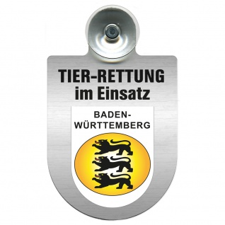 Einsatzschild mit Saugnapf Tier Rettung im Einsatz 393839 Region Baden-Württemberg