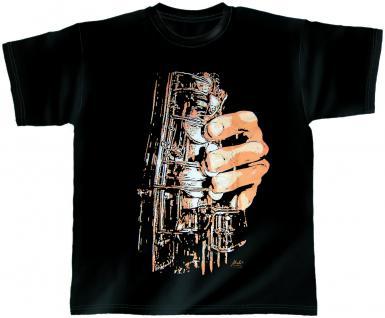 Designer T-Shirt - Sax Fingers - von ROCK YOU MUSIC SHIRTS - 10391 - Gr. XL