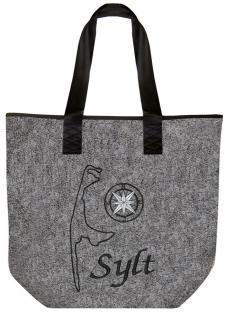 Filztasche mit Einstickung - SYLT - 26090 - Bag Shopper Umhängetasche