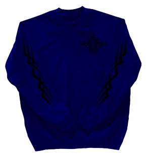 Sweatshirt mit Print - Tattoo - 10113 - versch. farben zur Wahl - blau / XXL