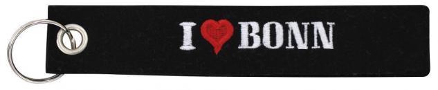 Filz-Schlüsselanhänger mit Stick I LOVE BONN Gr. ca. 17x3cm 14011 Keyholder schwarz