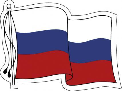 Aufkleber Autoaufkleber Länderfahne wehend - Russia - Russland - 301345- Gr. ca. 80mm x 60mm