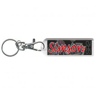 Karabiner-Schlüsselanhänger - SIMSON SR2 - Gr. ca. 6x2cm - 13221 - schwarz-rot