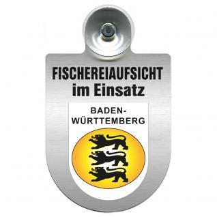 Einsatzschild Windschutzscheibe incl. Saugnapf - Fischereiaufsicht im Einsatz - 309371-1- Region Baden-Württemberg