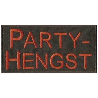 Aufnäher - Party Hengst - 00825 - Gr. ca. 10 x 5 cm - Patches Stick Applikation