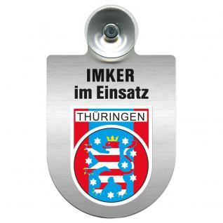 Einsatzschild Windschutzscheibe incl. Saugnapf - Imker im Einsatz - 309382-0-13 - Region Thüringen