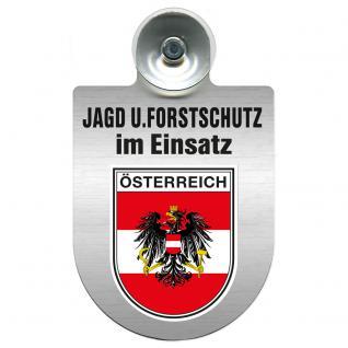 Einsatzschild für Windschutzscheibe incl. Saugnapf - Jagd + Forstschutz im Einsatz - 309729-20 Region Österreich
