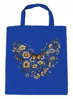 (U09840)Umweltfreundliche Baumwoll - Tasche , ca. 28 x 43 cm mit Aufdruck in 7 Farben blau