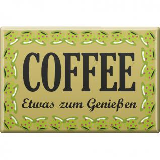 KÜCHENMAGNET - Coffee - etwas zum Genießen - Gr. ca. 8 x 5, 5 cm - 38873 - Magnet