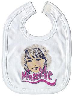 Baby-Lätzchen mit Druckmotiv - Minizicke - 08419 - weiss
