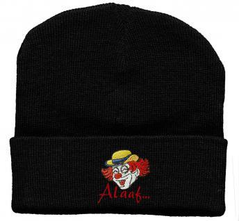 HIP-HOP Mütze Strickmütze mit Einstickung ? Clown - 56545 schwarz