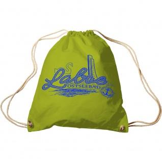 Sporttasche mit Aufdruck - Laboe Ostseebad - 65165 - Turnbeutel Sportbeutel Rucksack grün