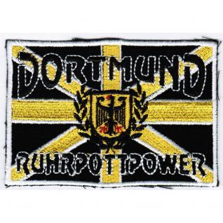 AUFNÄHER - Dortmund - Ruhrpottpower - 20606 - Gr. ca. 10 x 7 cm - Patches Stick Applikation