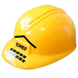 Baustellen- Helm, Bauhelm für Kinder mit Beschriftung Chef 51681 - Vorschau 1