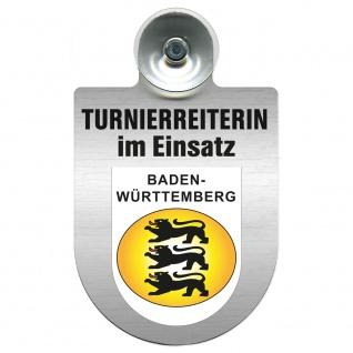 Einsatzschild mit Saugnapf Turnierreiterin im Einsatz 309478 Region Baden-Württemberg
