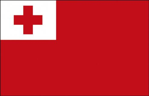 Länder-Flagge - Tonga - Gr. ca. 40x30cm - 77169 - Hissflagge, Fahne, Stockländerfahne