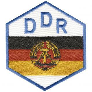 AUFNÄHER - DDR - Wappen - 04388 - Gr. ca. 7, 5 x 8, 5 cm - Patches Stick Applikation