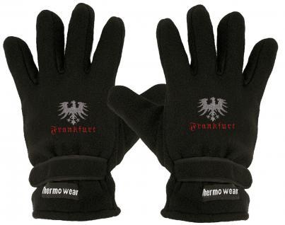 """(40385-5646) Fleece Handschuhe mit Einstickung """" FRANKFURT"""""""
