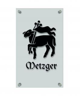 Zunftschild Handwerkerschild - Metzger - beschriftet auf edler Acryl-Kunststoff-Platte ? 309445 schwarz