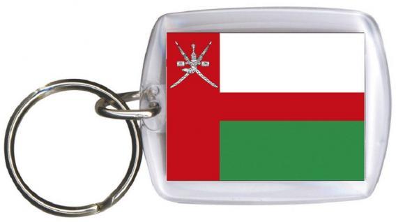 Schlüsselanhänger Anhänger - OMAN - Gr. ca. 4x5cm - 81124 - Keyholder WM Länder