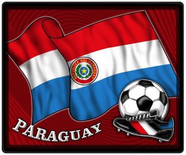 Mousepad Mauspad mit Motiv - Paraguay Fahne Fußball Fußballschuhe - 83128 - Gr. ca. 24 x 20 cm