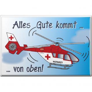 Magnet - Alles Gute... Feuerwehr - Gr. ca.8 x 5, 5 cm - 38418 - Küchenmagnet
