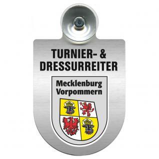 Einsatzschild Windschutzscheibe incl. Saugnapf - Turnier- und Dressurreiter im Einsatz - 309471-6 Region Mecklenburg-Vorpommern