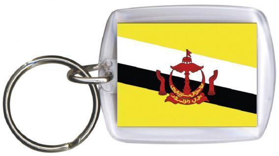 Schlüsselanhänger - BRUNEI - Gr. ca. 4x5cm - 81031 - WM Länder