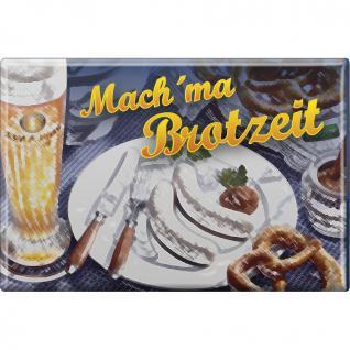 Küchenmagnet - Mach ma Brotzeit - Gr. ca. 8 x 5, 5 cm - 38222 - Magnet