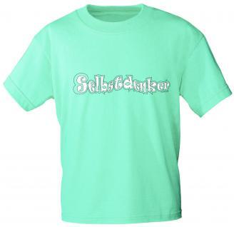T-Shirt mit Print -Selbstdenker - 10781 mintgrün - Gr. S-2XL