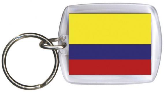 Schlüsselanhänger Anhänger - KOLUMBIEN - Gr. ca. 4x5cm - 81084 - Keyholder WM Länder