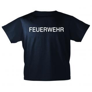 Kinder T-Shirt Brust- und Rückendruck - Feuerwehr - 12718 marineblau - Gr. 98-164