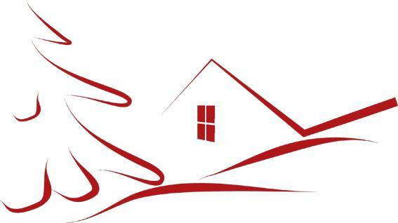 """Wandtattoo/ Dekorfolie mit Motiv """" stilisiertes Haus"""" Ø 90cm Länge max.100 cm, in 11 Farben WD0811 rot"""
