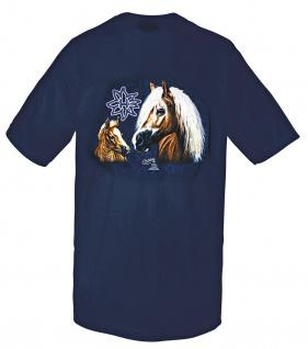 Kinder-T-Shirt mit hochwertigem Print - Haflinger - 08192 dunkelblau - ©Kollektion Bötzel - Gr. 92-164