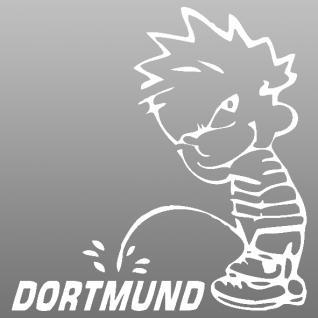 Pinkelmännchen-Applikations- Aufkleber - Dortmund - ca. 15 cm 303652 - weiß