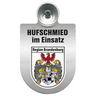 Einsatzschild Windschutzscheibe incl. Saugnapf - Hufschmied im Einsatz - 309391-4 - Region Brandenburg