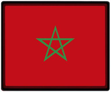 Mousepad Mauspad mit Motiv - Marokko Fahne Fußball Fußballschuhe - 82103 - Gr. ca. 24 x 20 cm