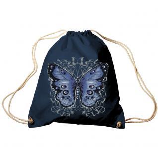 Trend-Bag Turnbeutel Sporttasche Rucksack mit Print - Schmetterling - TB65325
