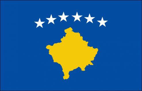 Stockländerfahne - Kosovo - Gr. ca. 40x30cm - 77086 - Schwenkfahne - Vorschau