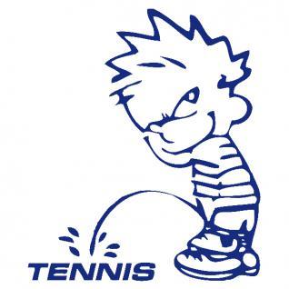 Pinkelmännchen-Applikations- Aufkleber - ca. 15 cm - Tennis - 303643 - blau
