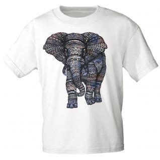 T-Shirt unisex mit Aufdruck - Elefant - 12992- versch. Farben zur Wahl - weiß / S