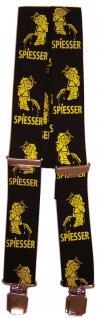 Hosenträger mit Print - Pinkelmännchen Spiesser - 06542 schwarz
